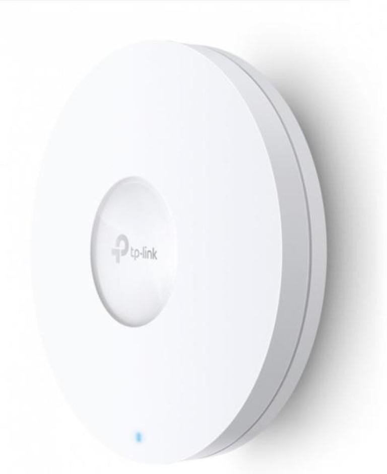 Wireless Access Point TP-Link EAP620 HD, AX1800 Wireless Dual Band Ceiling Mount Access Point, 1× Gigabit Ethernet (RJ-45) Port, 802.3at PoE or, Power Consumption 13.5 W, Mounting kit included, Wireless Standards IEEE 802.11ax/ac/n/g/b/a, 5 GHz: Up to 1201 Mbps, 2.4 GHz: Up to 574 Mbps. - imaginea 1