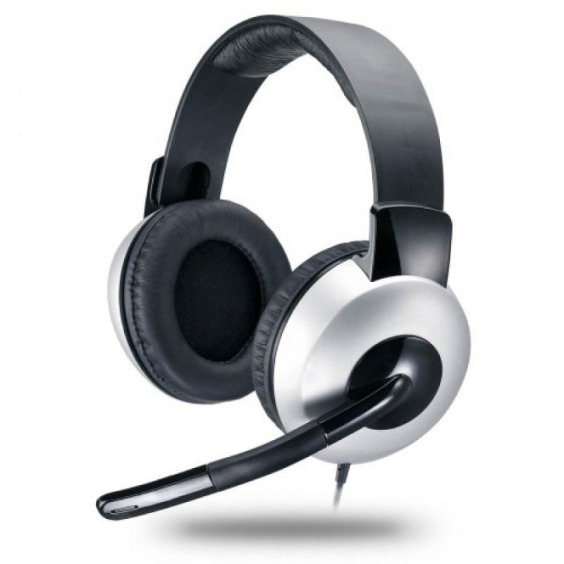 Casti cu microfon Genius HS-05A, negru/argintiu - imaginea 1