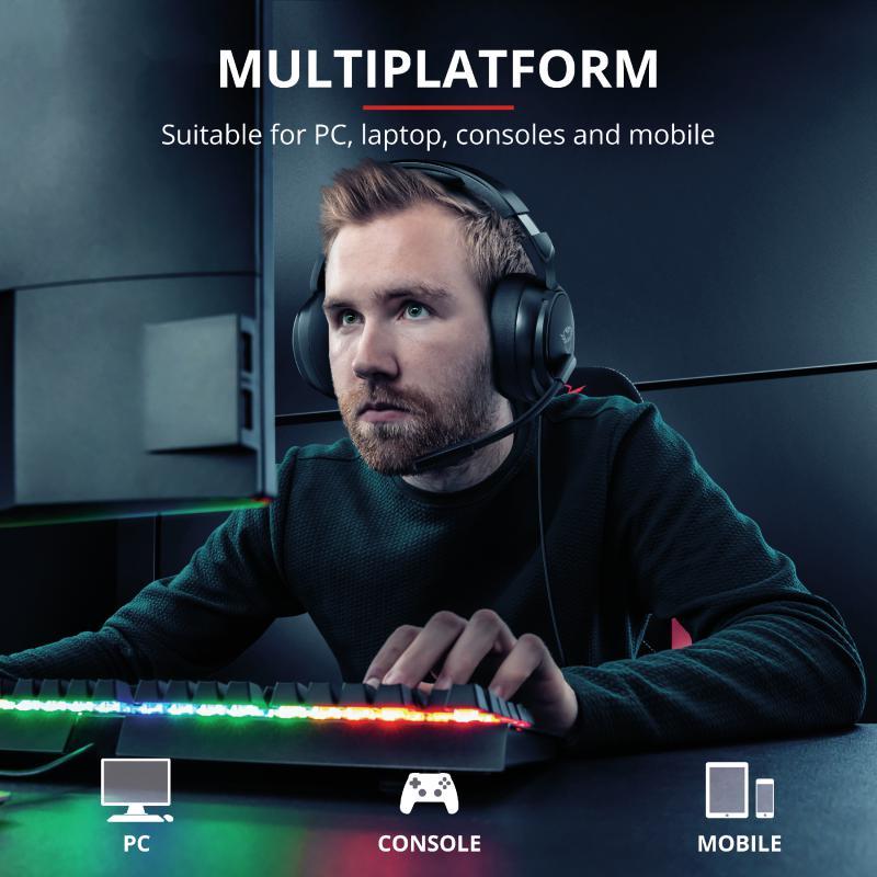 Casti cu microfon Trust GXT 433 Pylo Multiplatform Gaming, negru - imaginea 9