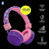 Casti cu microfon Trust Comi, Wireless Kids, purple - imaginea 2