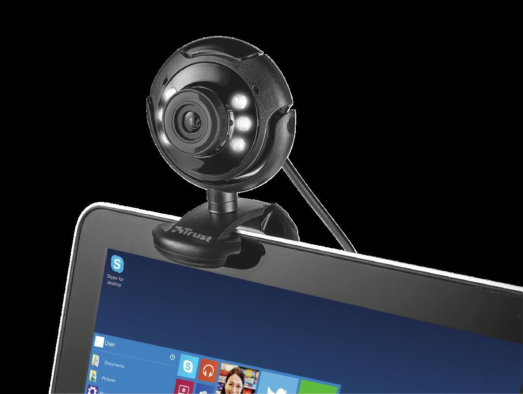Camera WEB Trust SpotLight Pro Webcam LED Lights - imaginea 3