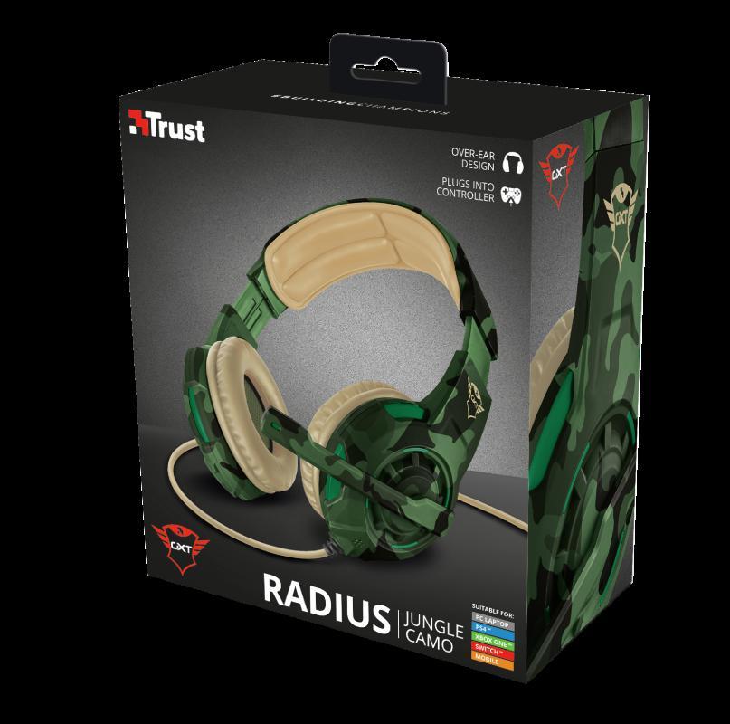Casti cu microfon Trust GXT 310C Radius Gaming Headset, jungle camo - imaginea 11