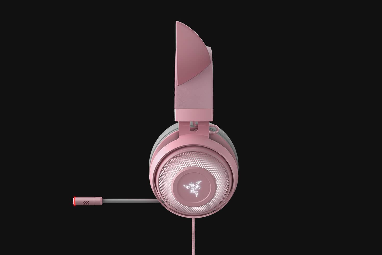 Casti cu microfon Razer Kraken Kitty Ed. Quartz USB 7.1 Surround Sound, negru - imaginea 2