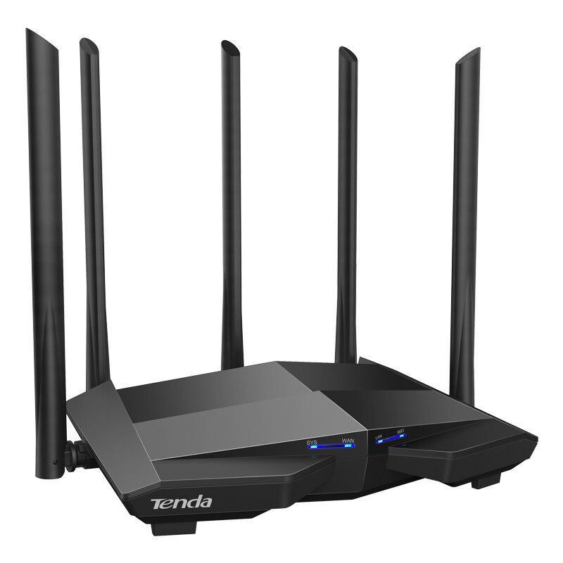TENDA AC11 AC1200 Dual Band Gigabit WIFI Router, Standard &Protocol: IEEE802.3, IEEE802.3u, IEEE802.3ab, Interface: 1 x 10/100/1000Mbps WAN port, 3 x 10/100/1000Mbps LAN ports, 5 x 6dBi external antennas, Wireless Standards: IEEE 802.11ac wave2/a/n 5GHz, IEEE 802.11b/g/n 2.4GHz. - imaginea 1
