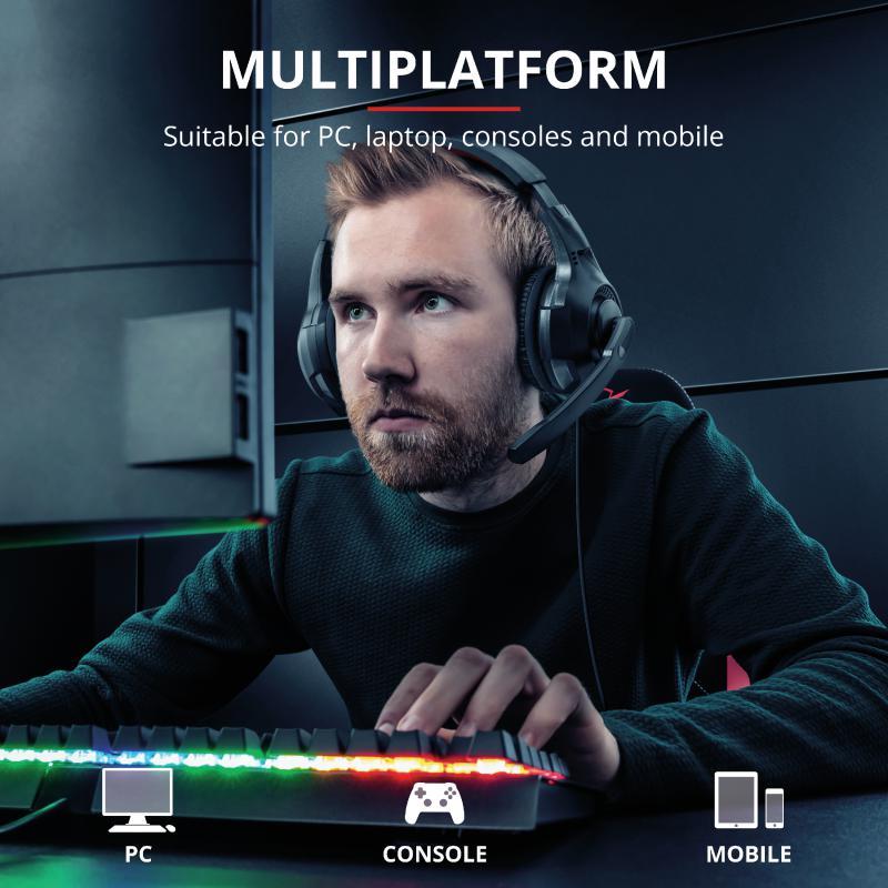 Casti cu microfon Trust GXT 307 Ravu Gaming Headset, negru - imaginea 9