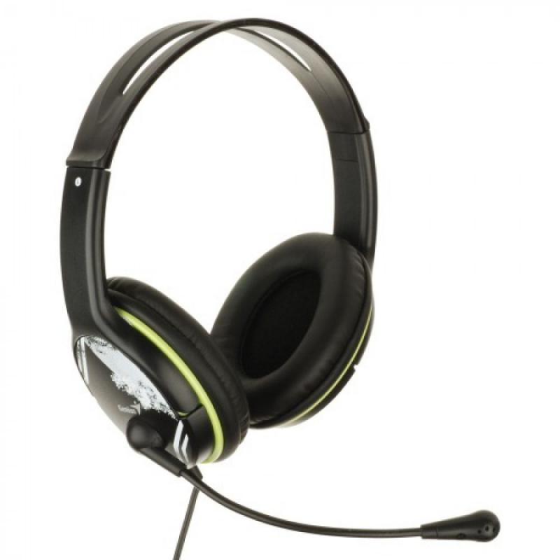 Casti cu microfon Genius HS-400A, negru - imaginea 1