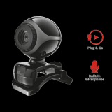 Camera WEB Trust Exis Webcam - black/silver - imaginea 3