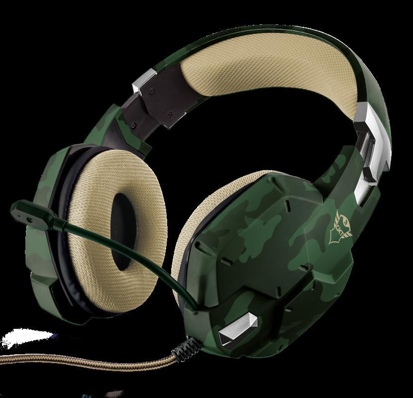 Casti cu microfon Trust GXT 322C Carus Gaming Headset, jungle camo - imaginea 1