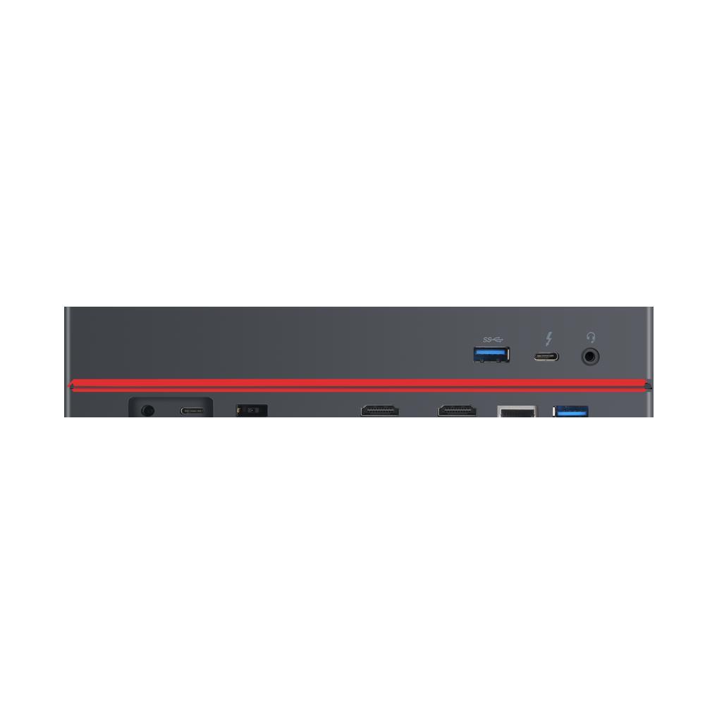 Docking Station Lenovo ThinkPad Thunderbolt 3 Workstation Dock Gen 2, Porturi: 2 x DisplayPort, 2 x HDMI, 1 x Thunderbolt 3 DownStream Port (video/data), 5 x USB 3.1 gen 2, 1 x Gigabit Ethernet, 1 x Kensington Lock Slot, 1 x 3.5 mm Stereo/Microphone Combo Port, 3 x max external monitorsMaximum - imaginea 7
