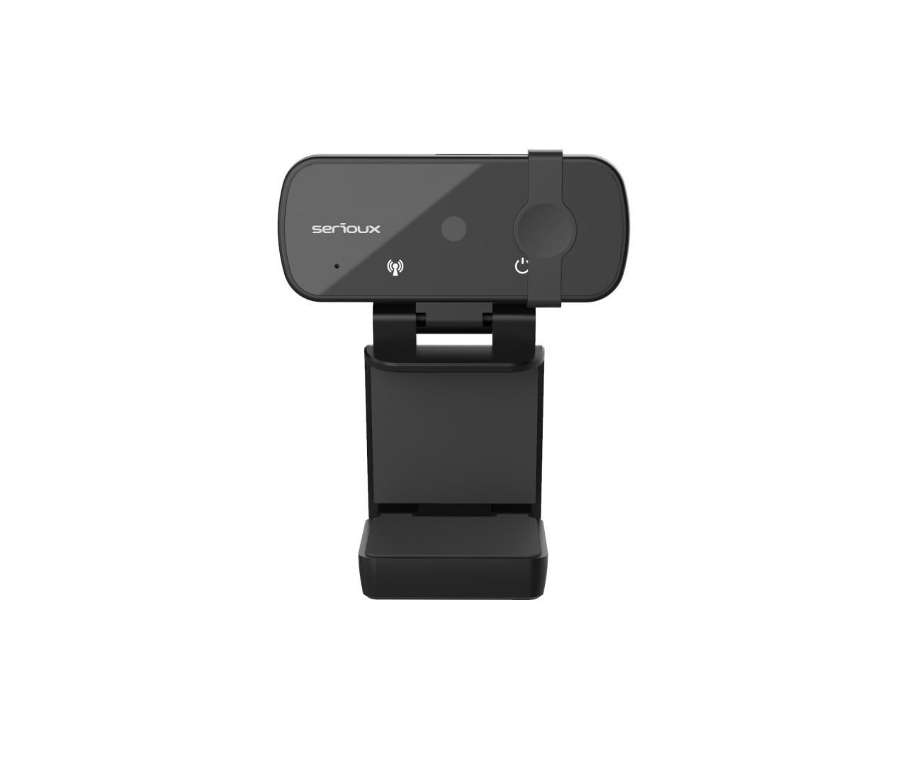 Camera web Serioux Full HD 1080p, chipset Sunplus2381+F23, microfon incorporat, rata cadre 30fps, rezoluție maximă video 1920*1080, format video MJPG / YUY2, senzor CMOS HD 2.0 Mega pixeli pentru imagine, tipul focalizării autofocus, control automat saturație, contrast, acutanță, echilibru de alb - imaginea 4