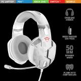 Casti cu microfon Trust GXT 322W Carus Gaming Headset, snow camo - imaginea 2
