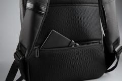 """Rucsac notebook Serioux, SMART TRAVEL ST9590, dimensiuni 31 x 16 x 46 cm, rezistent la apa, compartimente multiple, compartiment separat pentru notebook: max. 15.6"""", bretele ajustabile, port de încărcare USB, buzunar ascuns la spate, material poliester - imaginea 8"""