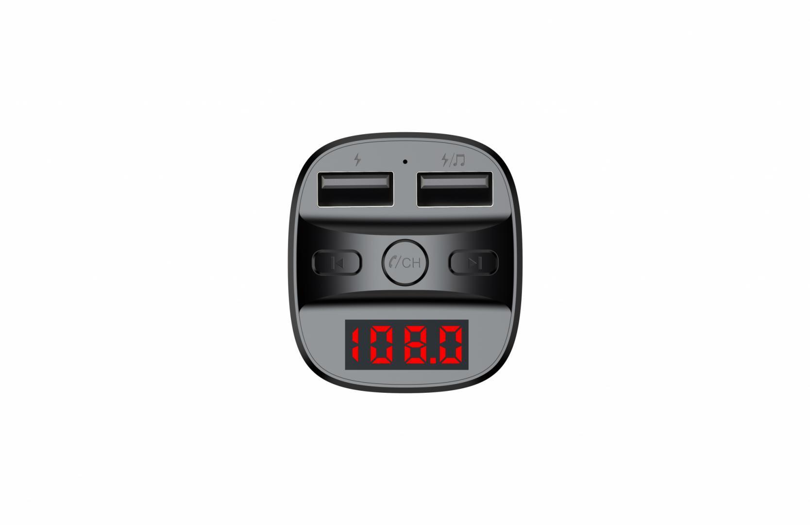 Modulator FM Serioux ABFM60, Bluetooth 5.0 , raza actiune de până la 5 m, voltaj intrare: 1x DC 12V/24V ,2 porturi USB: 1x USB DC5V 2.4A Max 1 x USB audio (pana la 32 GB), slot MicroSD (pana la 32 GB), format muzica: MP3/WMA/WAV, frecvența FM: 87.5MHz - 108.0MHZ, microfon incorporat , functii - imaginea 8