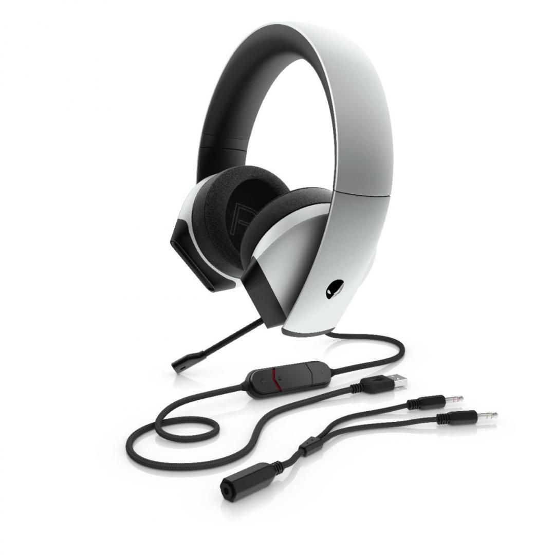Casti Dell Headset Alienware Gaming AW510H, lunar light - imaginea 5
