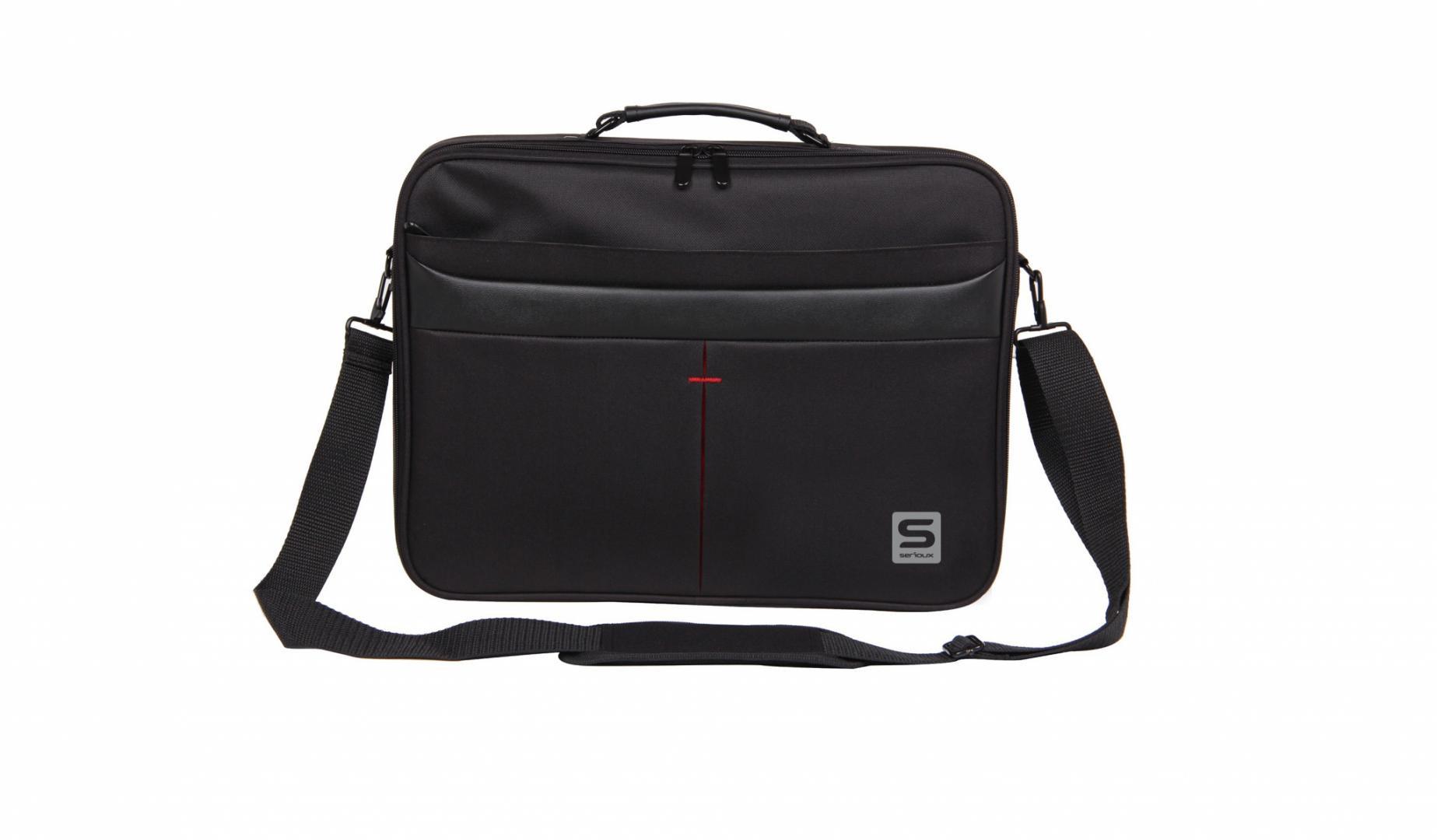 """Geanta notebook Serioux, SRX-8444, dimensiuni 40 x 30 x 6 cm, compartiment laptop: max 15.6"""", bretea spate pentru prindere troller, curea de umar ajustabila, material poliester - imaginea 1"""