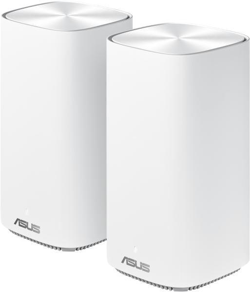 Asus dual-band whole home Mesh ZENwifi system, CD6 2 pack; white, AC1500, Network Standard-IEEE 802.11a, IEEE 802.11b, IEEE 802.11g, IEEE 802.11n, IEEE 802.11ac, IPv4, IPv6, 2.4 GHz 4 x 4, 5 GHz 2 x 2, Processor-QCN5502, Memory- 32 MB Flash, 128 MB RAM. - imaginea 1