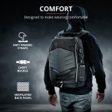 """Rucsac Trust GXT 1255 Outlaw Gaming Backpack 15.6"""" Black - imaginea 12"""