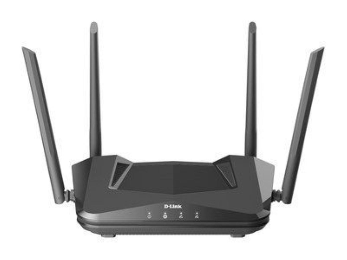D-Link AX1500 Wi-Fi Router, DIR-X1560; Wireless Speed: 1200Mbps + 300Mbps; SDRAM: 256MB; Flash: 128MB; 4 External Fixed Antennas; Wi-Fi 6 (802.11ax), Dual-band Wi-Fi with up to 4 simultaneous streams, Ports: 4 LAN, 1 WAN, MU-MIMO, Wireless Security: Latest 128-bit wireless encryption. - imaginea 1