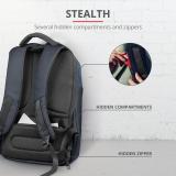 "Rucsac Trust Nox Anti-theft Backpack 16"" Blue - imaginea 7"