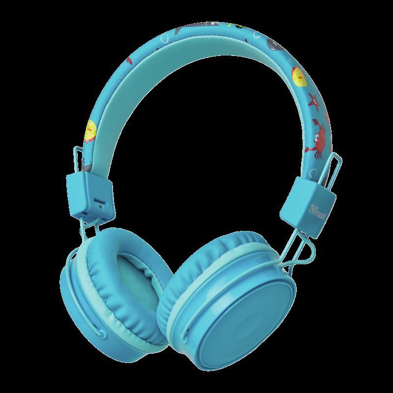 Casti cu microfon Trust Comi Kids, Bluetooth Wireless, blue - imaginea 1