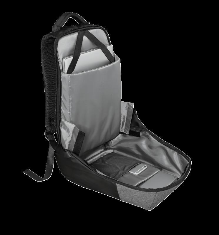 """Rucsac Trust Nox Anti-theft Backpack 16"""" Black - imaginea 11"""