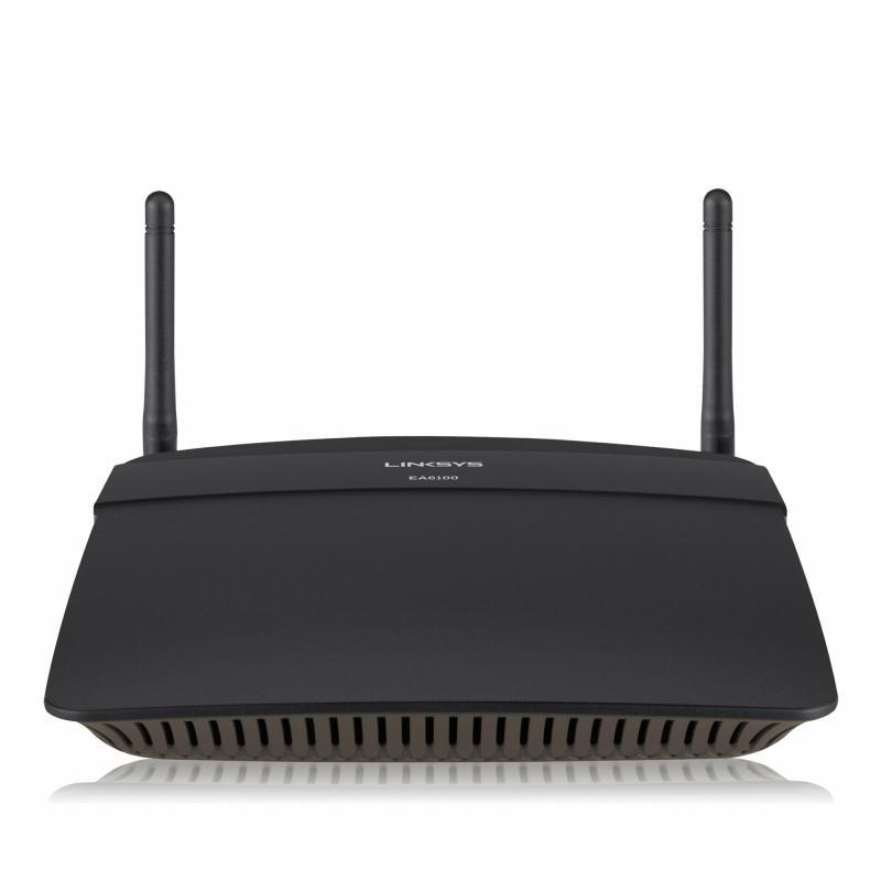 Router Wireless Linksys EA6100, 1xWAn 10/100, 4xLAN 10/100, 2 antene, dual-band AC1200 (867/300Mbps), USB2.0 - imaginea 1