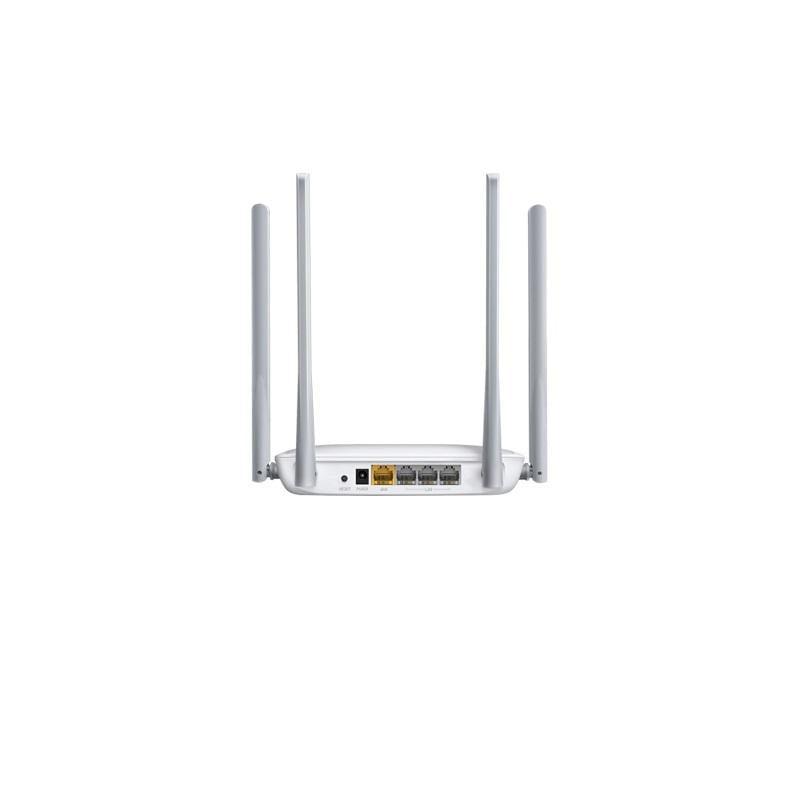 Router Wireless Mercusys N 300 Mbps, MW325R; Standarde Wireless: IEEE 802.11n, IEEE 802.11g, IEEE 802.11b; Frecvență: 2.4 - 2.5GHz; 3x Porturi LAN 10/100Mbps, 1x Port WAN 10/100Mbps; 4x 5dBi Antene Omnidirecţionale Nedetașabile; Putere de Transmisie: <20dBm; Alimentare externă: 5VDC/0.6A; - imaginea 2