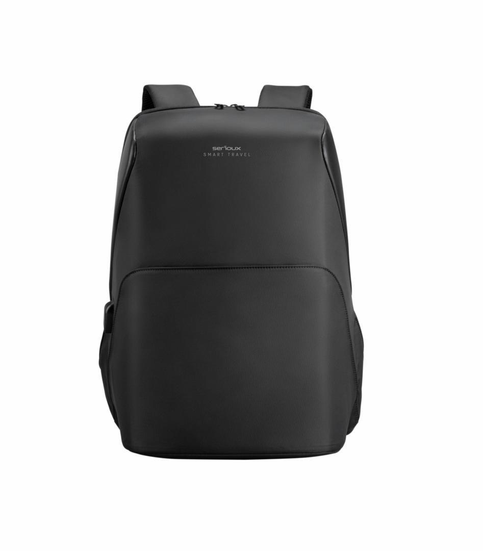 """Rucsac notebook Serioux, SMART TRAVEL ST9590, dimensiuni 31 x 16 x 46 cm, rezistent la apa, compartimente multiple, compartiment separat pentru notebook: max. 15.6"""", bretele ajustabile, port de încărcare USB, buzunar ascuns la spate, material poliester - imaginea 1"""
