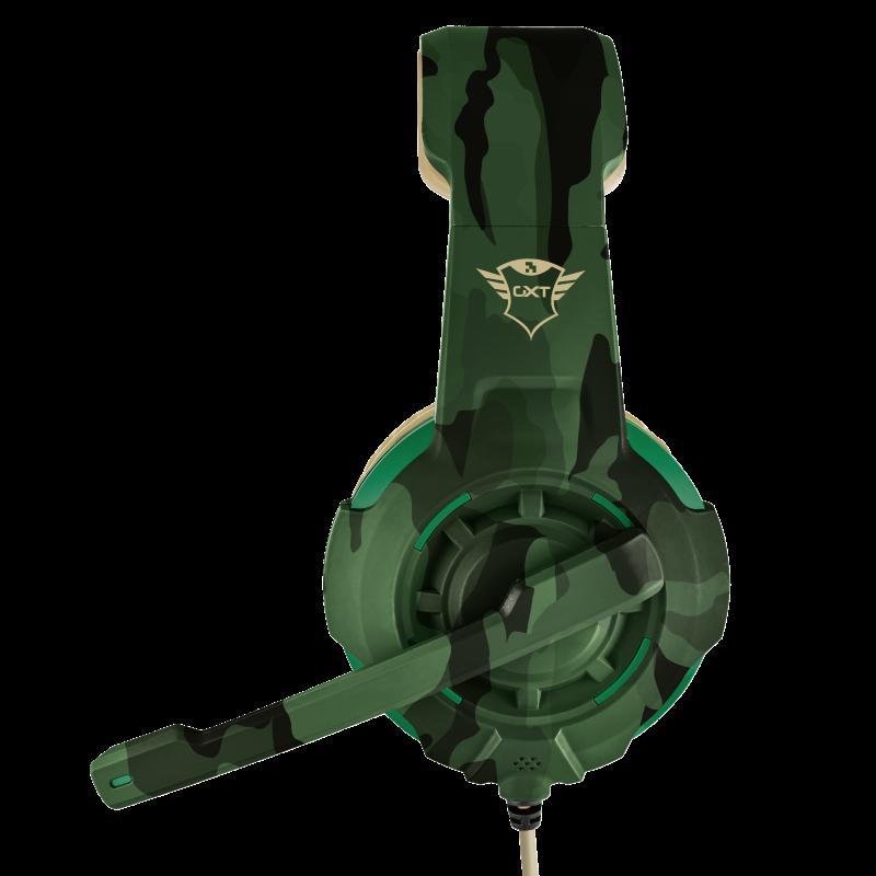 Casti cu microfon Trust GXT 310C Radius Gaming Headset, jungle camo - imaginea 5
