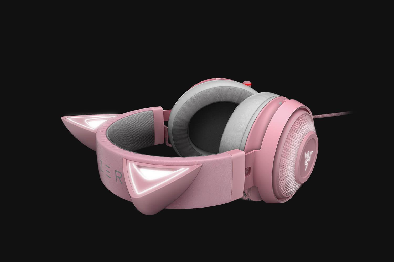 Casti cu microfon Razer Kraken Kitty Ed. Quartz USB 7.1 Surround Sound, negru - imaginea 4