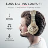 Casti cu microfon Trust GXT 310D Radius Gaming Headset, desert camo - imaginea 10
