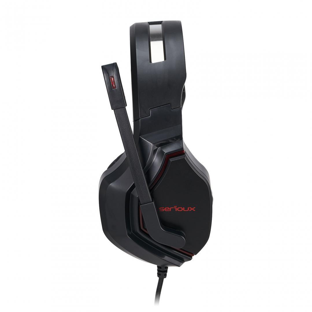 Casti cu microfon X by Serioux, Gaming, ADAIR, difuzor: 40mm, impedanță 32 Ω, sensibilitate 118DB / 1KHZ, interval de frecvență 20 Hz-20 kHz, THD <= 1, putere nominală 15mW ,putere maxima 30mW,dimensiunea microfonului 6,0 × 2,7 mm, sensibilitate -42 ± 3dB,directivitate omni- direcțională, impedanță - imaginea 2