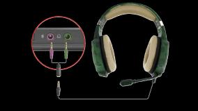 Casti cu microfon Trust GXT 322C Carus Gaming Headset, jungle camo - imaginea 6