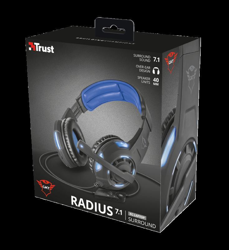 Casti cu microfon GXT 350 Radius 7.1 Surround Gaming, negru - imaginea 7