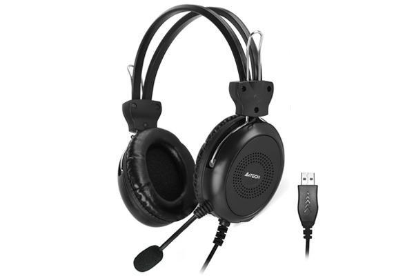 Casti A4TECH HU-30, Stereo, USB, Negru - imaginea 1