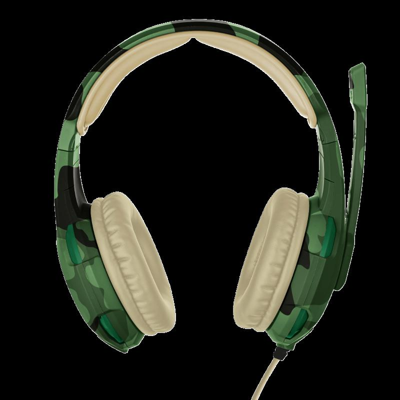 Casti cu microfon Trust GXT 310C Radius Gaming Headset, jungle camo - imaginea 6