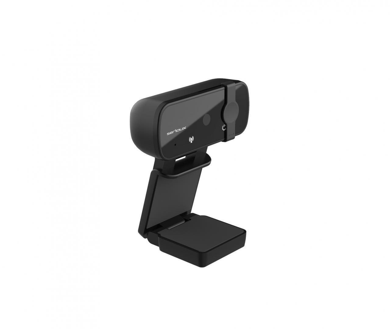 Camera web Serioux Full HD 1080p, chipset Sunplus2381+F23, microfon incorporat, rata cadre 30fps, rezoluție maximă video 1920*1080, format video MJPG / YUY2, senzor CMOS HD 2.0 Mega pixeli pentru imagine, tipul focalizării autofocus, control automat saturație, contrast, acutanță, echilibru de alb - imaginea 3