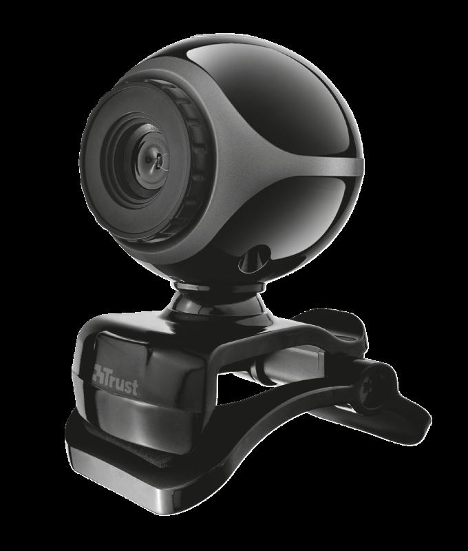 Camera WEB Trust Exis Webcam - black/silver - imaginea 1