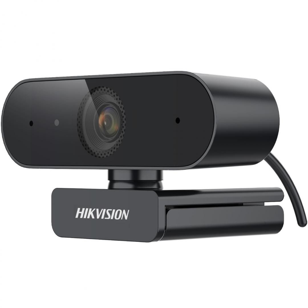 Camera web 2MP Hikvision DS-U02(3.6mm), rezolutie 1080P (1920 × 1080 @ 30/25 fps), iluminare minima 0.1 Lux @ (F1.2, AGC ON), AGC pentru luminozitate autoadaptativă, microfon audio incorporat, lentila fixa 3.6mm, unghi vizualizare: horizontal FOV: 80.3°, vertical FOV: 50.8°, diagonal FOV: 88.7° - imaginea 1