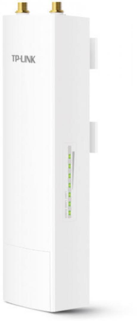 TP-link 5GHz 300Mbps Outdoor Wireless Base Station WBS510, 64MB DDR2 RAM, 8MB Flash, 1 Port Ethernet Ecranat 10/100Mbps, 1 Port Ethernet Ecranat 10/100Mbps (LAN1), 2 RP-SMA, 1 Bornă împământare, PoE Pasiv via LAN0 (+4,5pins; -7,8pins), IEEE 802.11a/n - imaginea 1