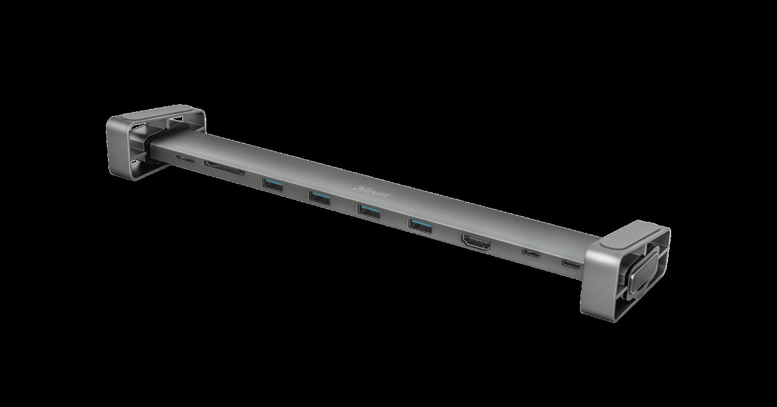 Adaptor Trust Dalyx Aluminium 10-in-1 USB-C Multi-port Dock - imaginea 1