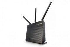 Router Wireless Asus RT-AC68U, 1xWAN Gigabit, 4xLAN Gigabit, 3 antene detasabile, dual-band AC1900 (1300/600Mbps), 1xUSB3.0, 3G/4G sharing, Dual-core Processor, TurboQAM, AiCloud, Printer server, Download Master, AiDisK, Multiple SSIDs, Parental Control, Black Diamond - imaginea 1