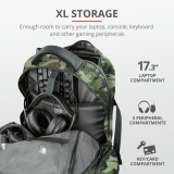 """Rucsac Trust GXT 1250G Hunter Gaming Backpack for 17.3"""" laptops - green camo - imaginea 7"""