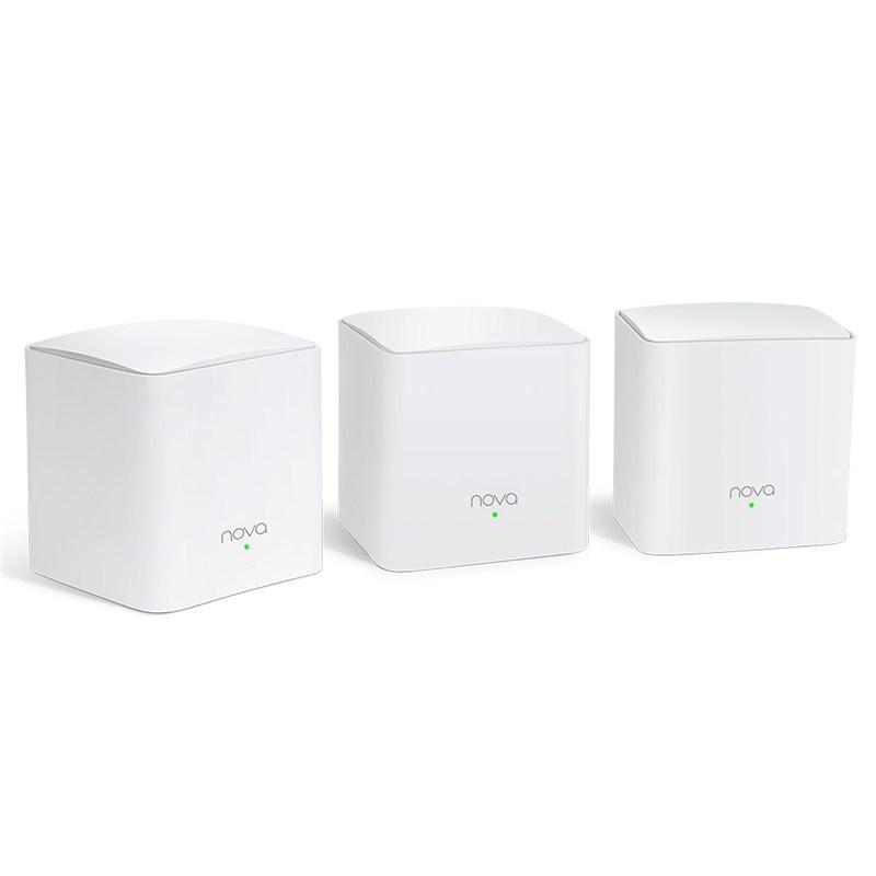 Tenda AC1200 Gigabit Whole Home Mesh WiFi System, MW5C(3-PACK), Standarde wireless: IEEE 802.11ac/n/a 5 GHz, IEEE 802.11b/g/n 2.4 GHz, Dual-Band, MU-MIMO, 2 antene interne omni-direcționale 3 dBi, Intrare: 100-240V, 50/60 Hz, 0.6 A, Ieșire: 12V CC, 1A. - imaginea 1