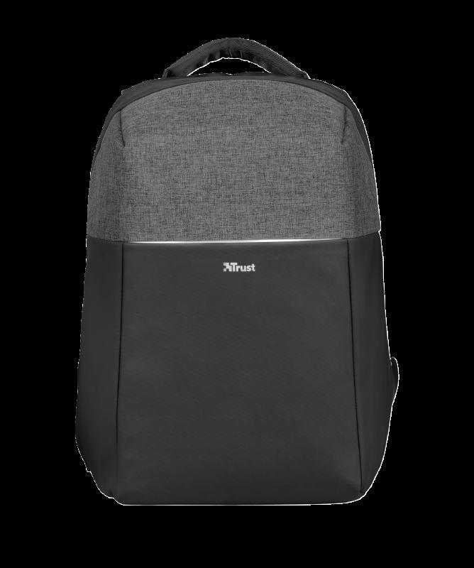 """Rucsac Trust Nox Anti-theft Backpack 16"""" Black - imaginea 3"""