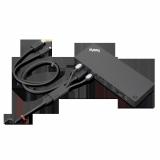 Docking Station Lenovo ThinkPad Thunderbolt 3 Workstation Dock Gen 2, Porturi: 2 x DisplayPort, 2 x HDMI, 1 x Thunderbolt 3 DownStream Port (video/data), 5 x USB 3.1 gen 2, 1 x Gigabit Ethernet, 1 x Kensington Lock Slot, 1 x 3.5 mm Stereo/Microphone Combo Port, 3 x max external monitorsMaximum - imaginea 9
