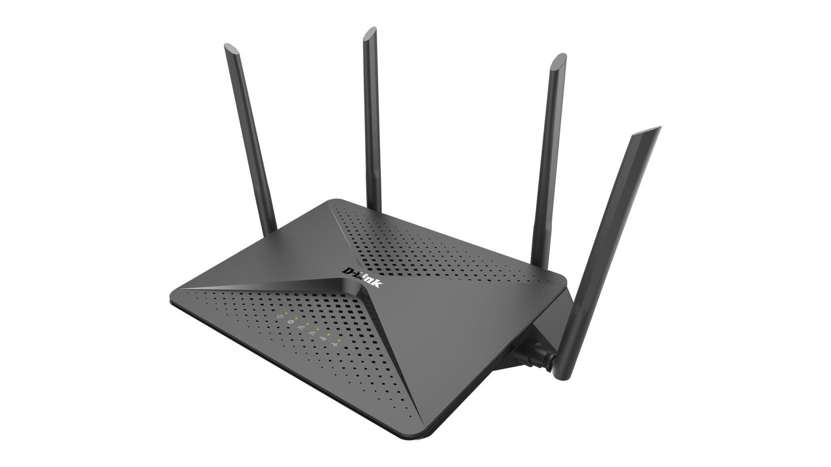DLINK EXO AC2600 MU-MIMO Wi-Fi Router, DIR-882, EEE 802.11 ac/n/g/b/a wireless LAN, 1* USB 2.0 port, 1*  Super Speed USB 3.0 port, 4* 10/100/1000 Gigabit Ethernet LAN ports, 10/100/1000 Gigabit Ethernet WAN port, Four external antennas, 2.4 GHz: Up to 800 Mbps/ 5 GHz: Up to 1,733 Mbps, compatibil - imaginea 1