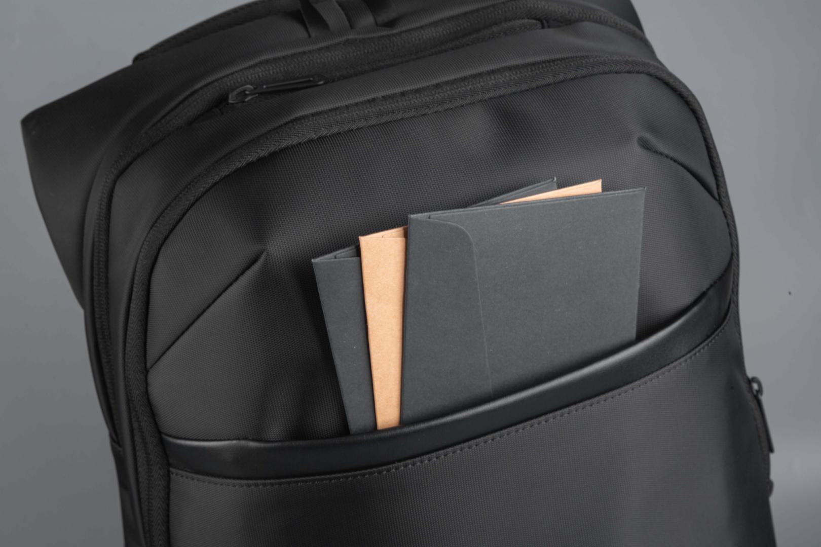 """Rucsac notebook Serioux, SMART TRAVEL ST9588, dimensiuni: 32 x 19 x 46 cm, rezistent la apa, compartimente multiple, compartiment separat pentru notebook: max. 15.6"""", bretele ajustabile, port de încărcare USB, buzunar ascuns la spate, material poliester - imaginea 6"""