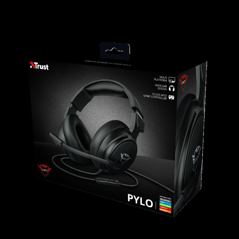 Casti cu microfon Trust GXT 433 Pylo Multiplatform Gaming, negru - imaginea 10