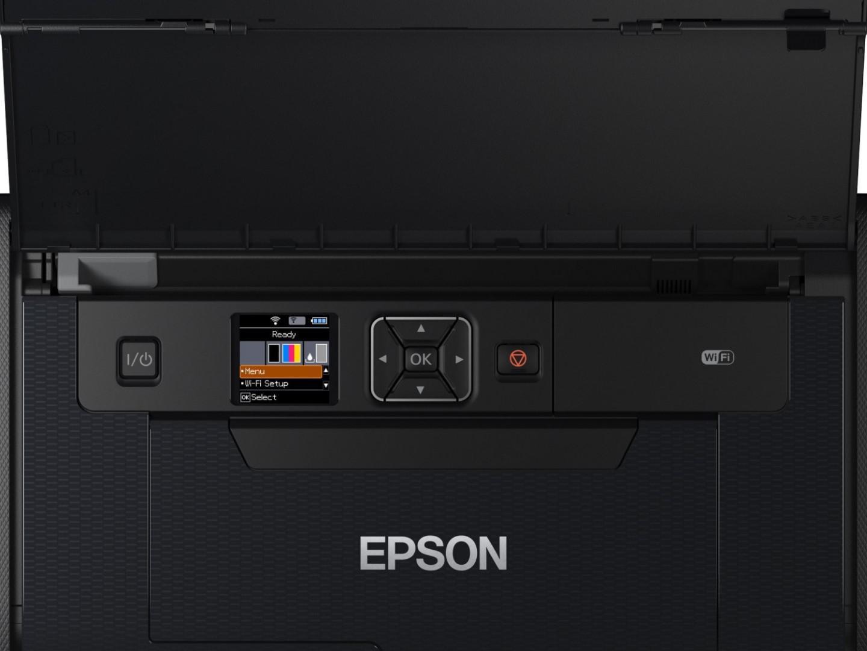 Imprimanta inkjet color portabila Epson WF-100W, dimensiune A4, viteza 7ppm alb-negru, 4ppm color, rezolutie 5760x1440 dpi, alimentare hartie 20 coli, interfata USB2.0, Wireless,  Wi-Fi Direct, PictBridge, Google Cloud Print, Air Print, Epson Connect (iPrint, Email Print, Remote Print Driver) - imaginea 3